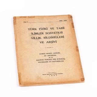 20. Türk Fizikî ve Tabiî İlimler Sosyetesi Bildiriğleri ve Arşivi